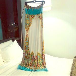 Arden B Patterned Sleeveless Maxi Dress or Skirt